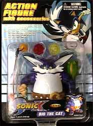"""Sonic X: 5"""" Action Figure - Big the Cat - Toy review Ps2 Console Back"""